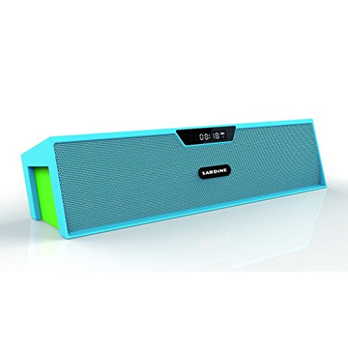 Sardine SDY-019 Bluetooth Speaker, Portable Bluetooth Stereo Speaker, FM Radio, Support TF Card/Micro SD Card and USB Input, Support MP3, WAV, WMA, APE, FLAC file for Smartphone Blue