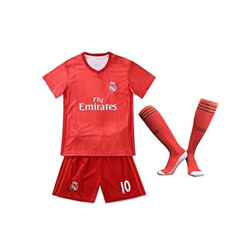 PAOFU Real Madrid Club De Fútbol Luka Modric 10# Kinderfan Fußball Trikotset Rot,Rot,14