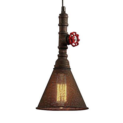 YB Retro industriële hanglamp, creatief, waterpijp, lampenkap van aluminium, type bel, verstelbaar, voor woonkamer, slaapkamer, loft, kantoor, eettafel, E27, Basis & Phi;