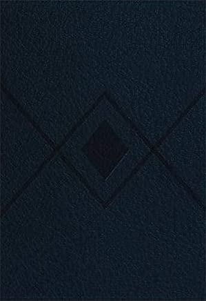 Baker Illustrated Study Bible: Christian Standard Bible, Navy, Diamond Design, Leathertouch