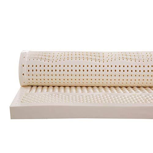 MISS&YG Latex-Matratze, Upscale 100% Naturlatexmatratze Topper, Extra Soft, Soft-10Cm Breathable natürliches rein Faltbare Doppel mattess, Matratzenbezug mit weißer Baumwolle,180 * 200 * 10cm
