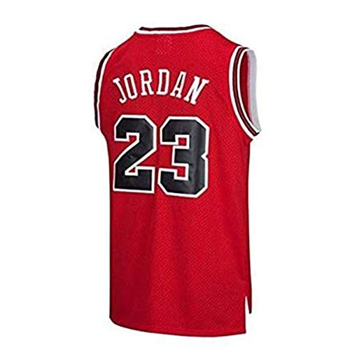 Michael Jordan # 23 Chicago Bulls Basketball Trikot-atmungsaktive Sport Retro Gym Weste (Color : A, Size : M)