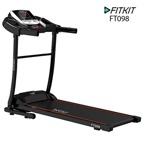 Fitkit FT098 1.5HP (2HP Peak) Motorized Treadmill...