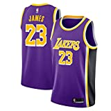 Maglia da Uomo, NBA Lebron James, Maglia Los Angeles Lakers Retro n.23, Maglia Vintage da Giocatore...
