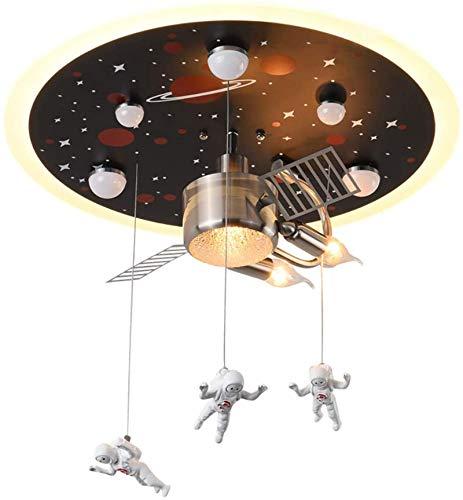 SSeir Luz del Techo LED para niños, lámpara de Techo de la estación Espacial de Dibujos Animados con 3 Colores cálidos Ajustable, Pintura de galvanoplastia no se desvanece