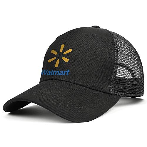 LHSPOSIFD Unisex Man Baseball Hat Casual Adjustable Mesh Flat Brim Walmart-Supermarket-Logo-Flat Cap
