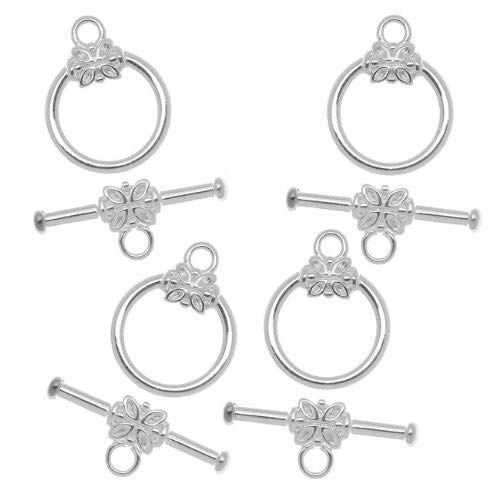 GOLD PLATED TOGGLE CLASPS JEWELLERY FINDINGS NECKLACE BRACELETS 5-100 SILVER