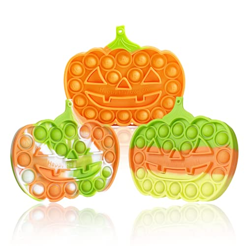 EXZ Fidget Toys,Pop Bubble Fidget Sensory Toy Set,Push Fidget Toys Pack for Kids Boys Girls Adults Stress Relief Silicone Pressure Relieving Toy(Pumpkin)
