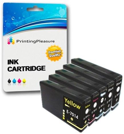 5 XXL Compatibili Cartucce d'inchiostro per Epson WorkForce Pro WP-4015DN WP-4025DW WP-4095DN WP-4515DN WP-4525DNF WP-4535DWF WP-4545DTWF WP-4595DNF - Nero/Ciano/Magenta/Giallo, Alta Capacità
