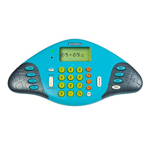 Educational Insights MathShark Electronic Math Game for Kids Ages 6+, Addition, Subtraction, Multiplication & Division, Fractions & More, Classroom Supply