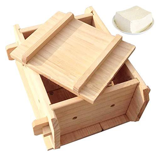 Tofu Press Käseform,Hausgemachte DIY Tofu Presser Abnehmbare Tofu Maker aus Holz für Die Herstellung von Tofu,Käse,Oshizushi und Musubi