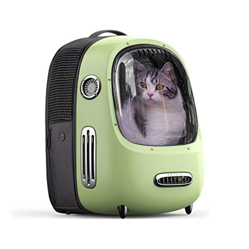PETKIT Cat Backpack Carrier, Portable Travel Space Capsule for Cats and Small Dogs, Ventilated Pet Backpack with Inbuilt Fan & Light, Comfort Pet Backpack with Padded Strap, Lightweight