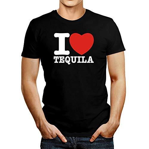 Idakoos I Love Tequila Bold Font Camiseta M