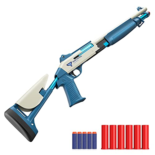 Toy Gun and Shotgun for Boy Shooting with Soft Bullet Gun for Shooting Game Parent-Child Game L'38 Inch Manual Bolt Matching Bullets Gloves and Goggles