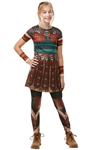 Rubie's 300007 9–10 How to Train your Dragon Fancy Dress, Mädchen, mehrfarbig