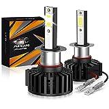 Pulilang Bombillas de Faros LED H1 Luz de Coche LED 60W 12000LM Conversión de Faros a Prueba de Agua Súper Brillante...