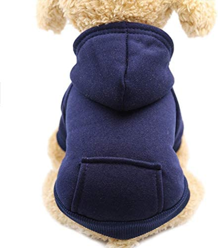 Idepet Dog Clothes Pet Dog Hoodies for Small Dogs Vest Chihuahua Clothes Warm Coat Jacket Autumn product image