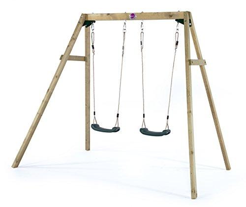 Plum Wooden Garden Double Swing Set