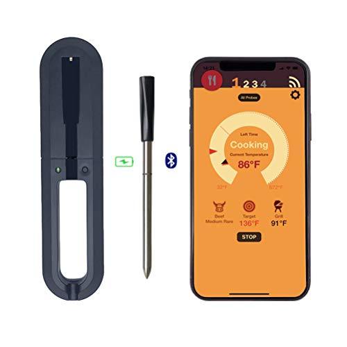 PIVOT 1 Stück Küchen Wireless Fleischthermometer USB-Aufladung Digitales Grill-Kochthermometer für IOS Android Ofen Grill Küche BBQ Raucher Rotisserie