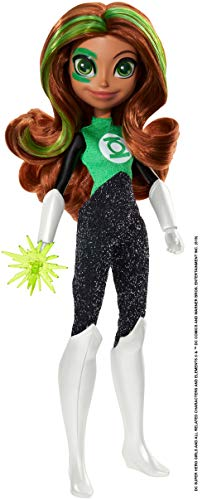 DC Super Hero Girls Green Lantern Action Doll Approx. 10.5 inch with Removable Accessories, Wearing Iconic Outfit with True-to-Show Details, Great Gift for 6 – 8 Year Olds, Multicolor (GFB90)