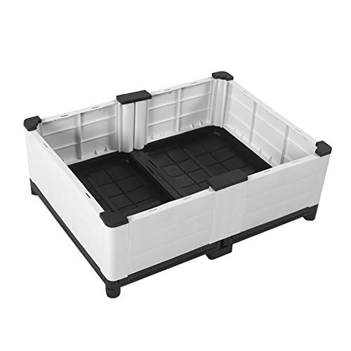 ZDYLM-Y Hochbeet, Kunststoffkästen für Innen- / Außen- / Außenbereiche, Pflanzgefäße, Blumen, Gemüse und Kräuterwachstumschützer,Double Layer(3 Planter Box)