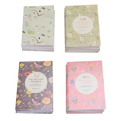 STOBOK - 50 cuadernos de notas de colores para profesores, niños y niñas, diseño de flores, 12 x 8, 5 cm (estilo mixto)