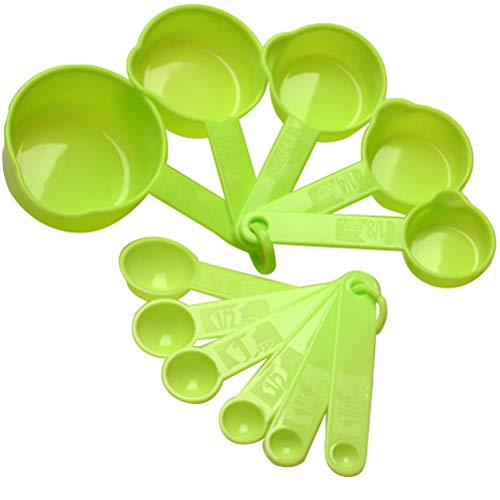 BESTONZON Cucchiai colorati da 11 pezzi/Cucchiaio da tavola/Cucchiaio da forno per misurare gli ingredienti secchi e liquidi, Utensili da cucina (Colore casuale)