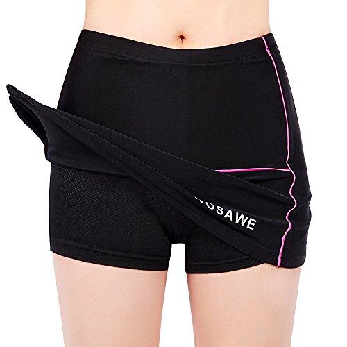 Tentock Traspirante Gel 3D Imbottite Pantaloncini da Sportivi Asciugatura Veloce Pantaloncini da Ciclismo da Donna per Esercizio di Allenamento, Jogging, Tennis, Boxe(Pantaloncini,M)