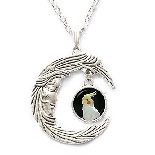 PU274 - Collar de cristal con forma de cúpula de loro, colgante de pájaro