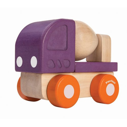 PlanToys- Mini Cement Truck, PT5442, Wood