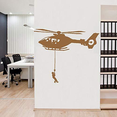 Exquisitas pegatinas de pared de helicóptero extraíbles para habitación de niños decoración de la naturaleza pegatinas de pared decoración de murales para niños papel tapiz A6 43x103cm