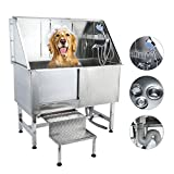 CO-Z 50 Inches Professional Stainless Steel Pet Dog Grooming Bath...