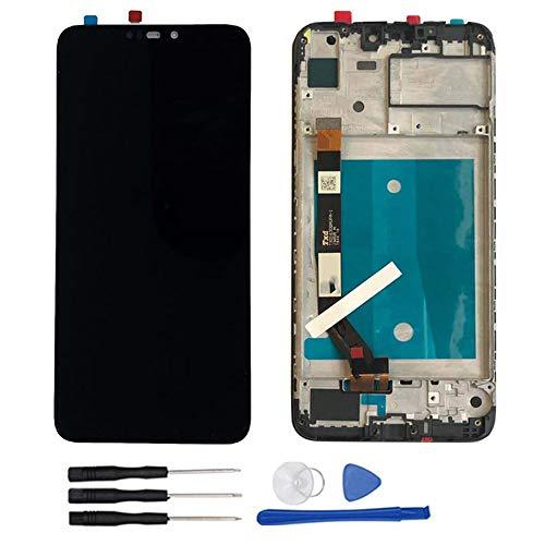 soliocial Sostituzione Assemblea Schermo LCD Display Digitizer Touch Screen Vetro per ASUS Zenfone Max M2 ZB633KL/ZB632KL X01AD Nero con Cornice