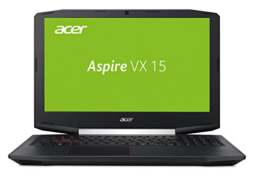 Acer Aspire VX 15 (VX5-591G-71F7) 15,6 Zoll (39,62 cm) Full-HD IPS (matt), (Intel Core i7-7700HQ, 16GB RAM, 512GB SSD + 1.000GB HDD, NVIDIA GeForce GTX 1050Ti (4GB GDDR5 VRAM), Win 10 Home) schwarz