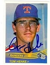 Tom Henke autographed Baseball Card (Texas Rangers) 1984 Donruss #134
