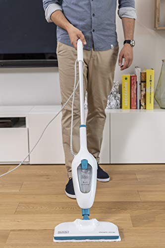 BLACK+DECKER FSMH13E10-QS Steam-Mop 10 in 1, Lavapavimenti a vapore, 1300 W