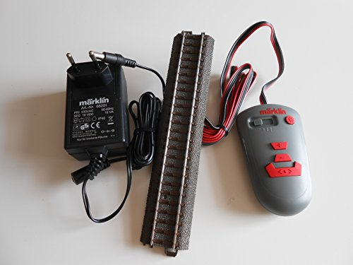 Märklin 236131 digitaler Fahrregler mit Anschlussgleis 24088 und Trafo 66201