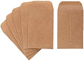 """Coin and Small Parts Envelopes Box of 500 2.25""""x 3.5"""" with Gummed Flap for Homes and Office Use"""