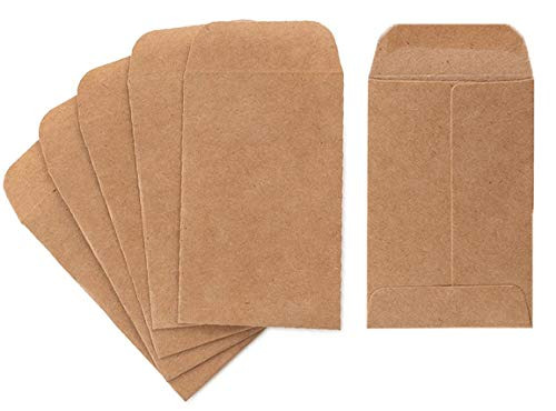 Coin and Small Parts Envelopes 500 Pack 2.25