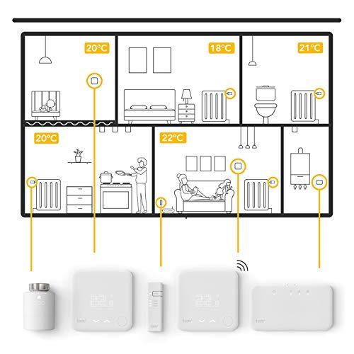 tado° Termostato Intelligente Cablato Kit di Base V3+, Gestione Intelligente del Riscaldamento, Facile Installazione Fai da Te, Progettato in Germania