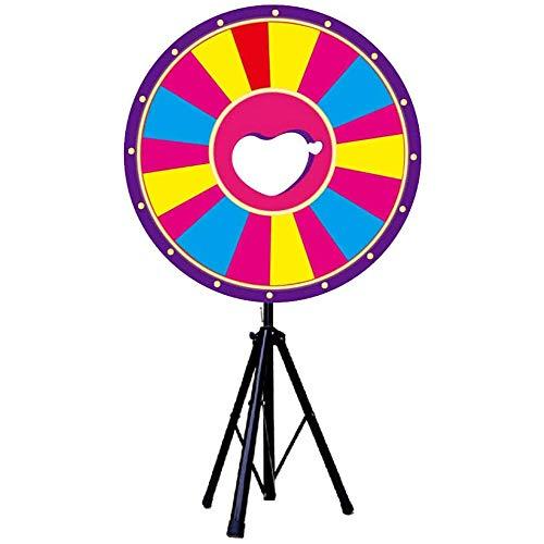 Prize Wheel 60 cm Tisch-Drehrad mit Ständer, Schlitzen, anpassbar mit mitgeliefertem trocken abwischbaren Marker, Spinnspiel, Party, Karneval, Messe