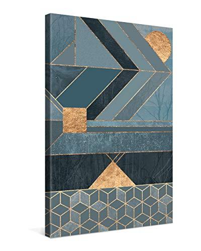 Gallery of Innovative Art Cuadro sobre Lienzo 40x60 cm Nordic Blue Impresión En Lienzo Montado sobre Marco De Madera (2cm) - Disponible En Varios Tamaños - Fotomural por Elisabeth Fredriksson