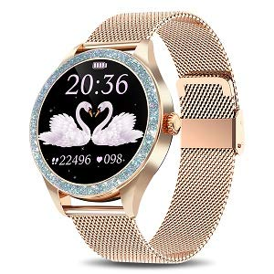 """Yocuby Smart Watch for Women, 1.1"""" Touch Screen Fitness Watch for iPhone Android Phones, IP68 Waterproof Sport Activity Tracker, SMS Alert, Heart Rate/Sleep Monitor"""