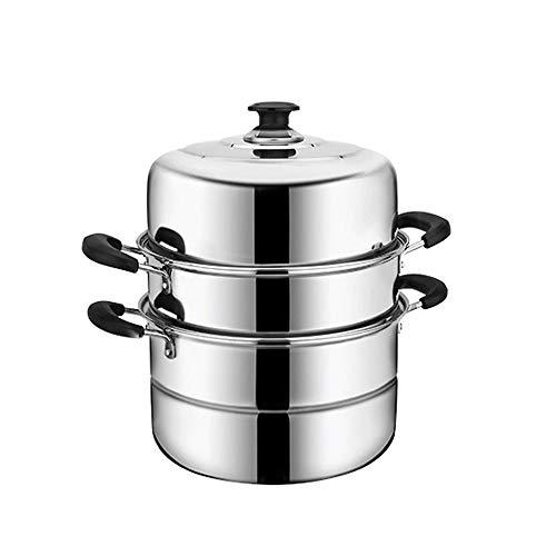Diaod El Vapor Espesor de Acero Inoxidable Vapor crisol de la Sopa Pot Universal Ollas de Cocina de inducción Cocina de Gas de Vapor Pot