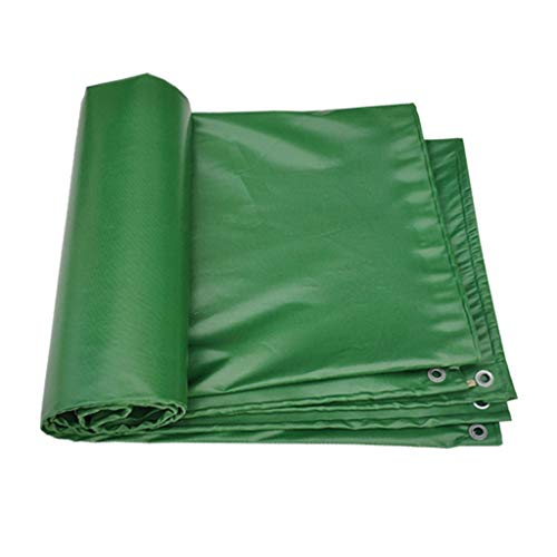 Tarps/Tarpaulin Waterproof Multi-Purpose Thickened Canvas Tarpaulin PVC Tarpaulin with Fixing Holes Green Tarpaulin Protector for Cars, Boats, Construction Contractors, Campers, and Emergency Shelter