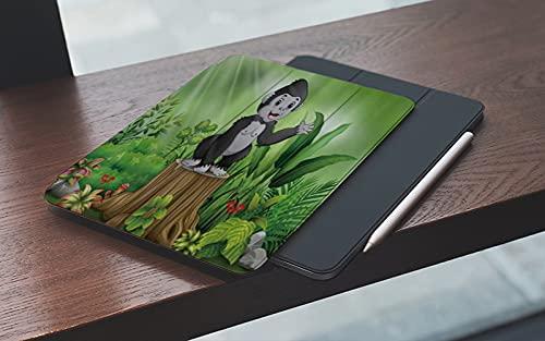 MEMETARO Funda para iPad 10.2 Pulgadas,2019/2020 Modelo, 7ª / 8ª generación,Lindo bebé Gorila parado en Las Plantas de tocón de árbol Smart Leather Stand Cover with Auto Wake/Sleep
