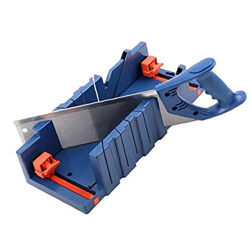 Mitre caja de inglete de la carpintería de sujeción Caja Mitre con 45 ° 90 ° Ángulo de ranura Carpintero carpintero color azul oscuro
