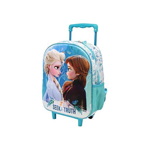 Karactermania Frozen 2 Seek: Mochila 3D con Ruedas  Pequeña   Color Multicolor