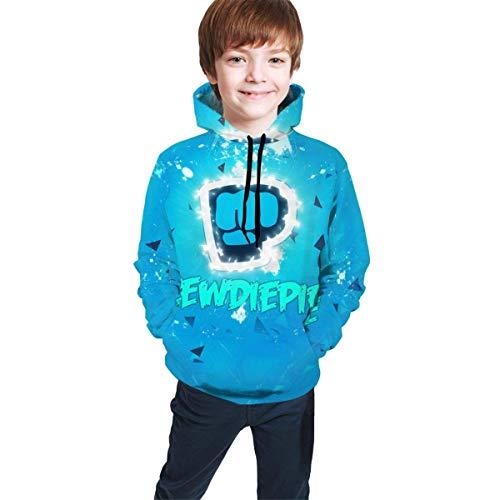 dgfgad Kapuzenpulli Kids Hoodies Pew-diepie Gamer Youtuber Youth Sweatshirt Graphic Pullover Clothes Hooded for Boys Girls