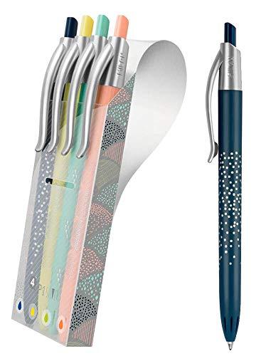 Bolígrafos de Colores Milan P1 Silver 4 Unidades